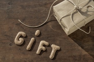 "Present, gift, parcel with the word ""GIFT"""