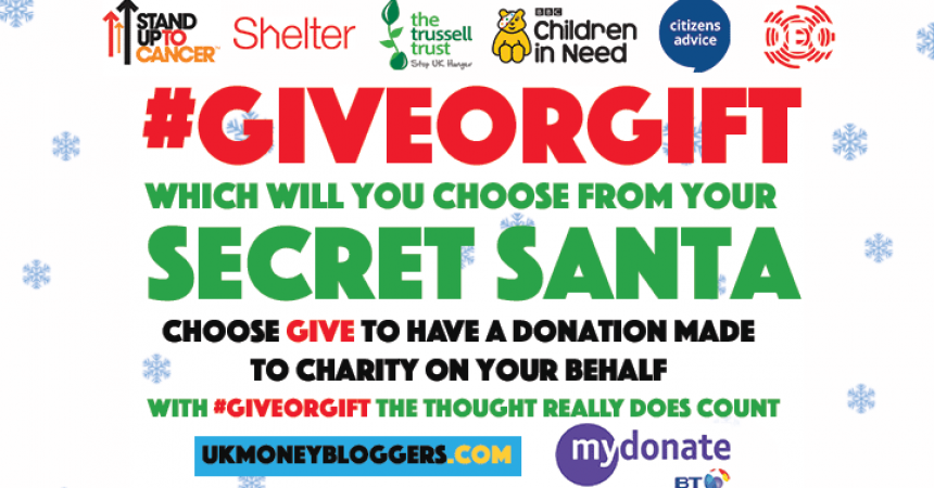 #Giveorgift – Ask your secret Santa to give to charity instead